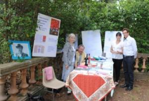Dans le jardin des Lauriers roses, notre stand