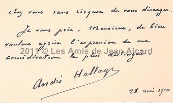 Courrier André Hallays