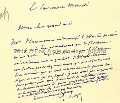 Courrier Georges Leygues