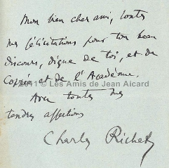 Courrier Charles Richet