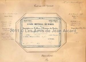certificat Jean Aicard Nîmes