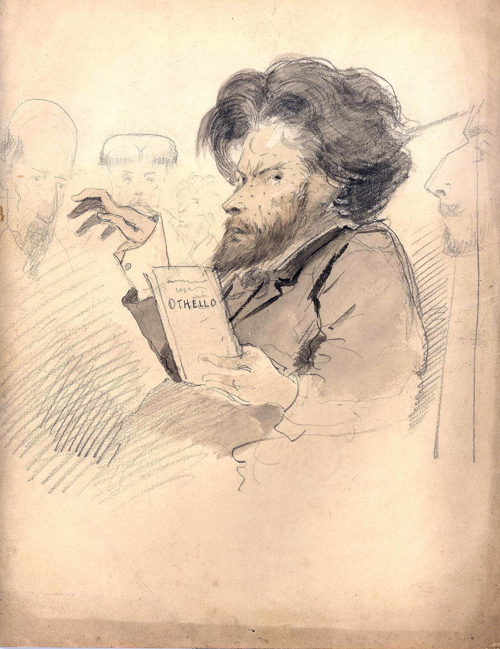1-Dessin au crayon de Jean Aicard (collect.MSV)