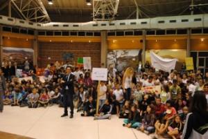 Une foule d'enfants