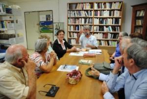 Scéance de travail avec M. et Mme Jean d'Agay et les amis de la parfumeuse de Seillans.